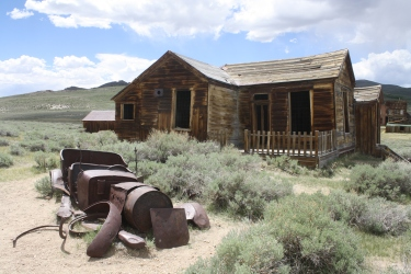 Homes and cars in Bodie all suffered the same fate.