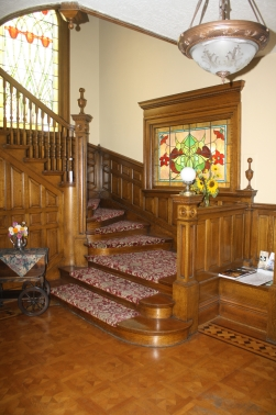 Gibson Mansion Bed & Breakfast Staircase