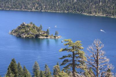 Emerald Bay and Fannette Island, Lake Tahoe, California