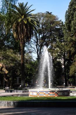 Plaza Chile, Mendoza, Argentina