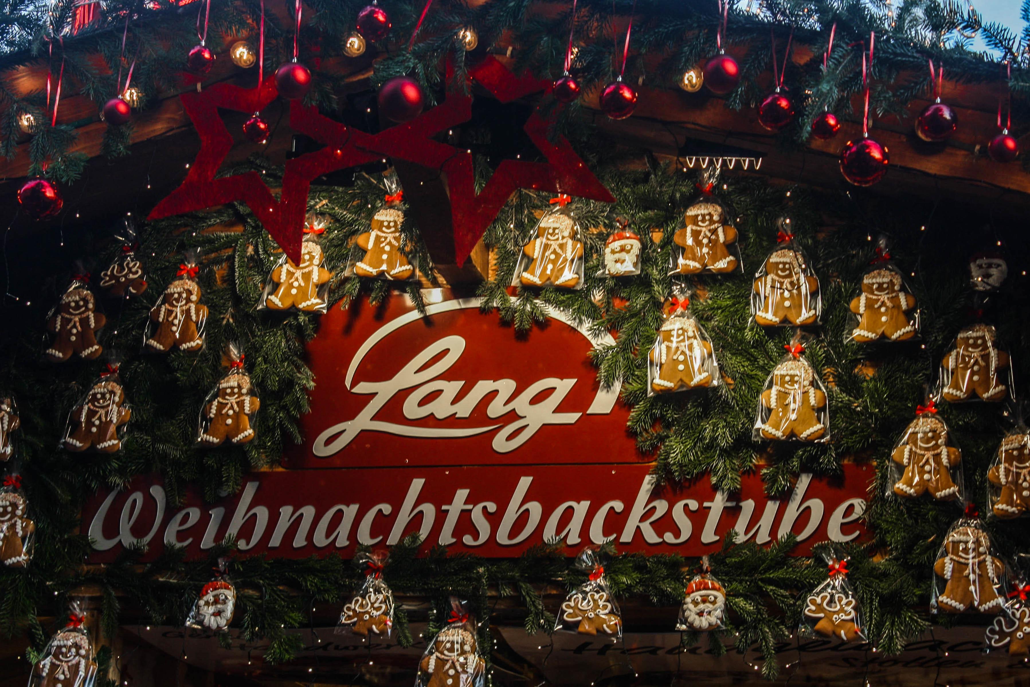Germany Stuttgart Christmas Market Gingerbread