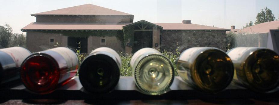 Wine bottles, Mendoza, Argentina