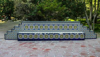 Bench in Plaza Espana, Mendoza, Argentina