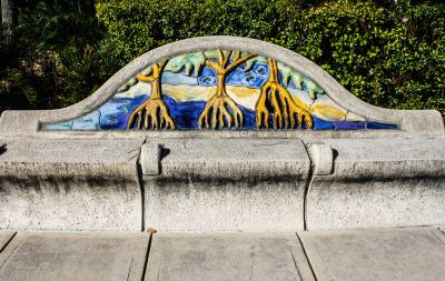 Bench in Riverwalk, Tampa, Florida