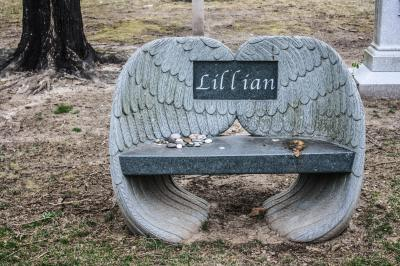 Bench in Swan Point Cemetery, Providence, Rhode Island