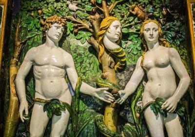 Adam and Eve, by Giovanni della Robbia