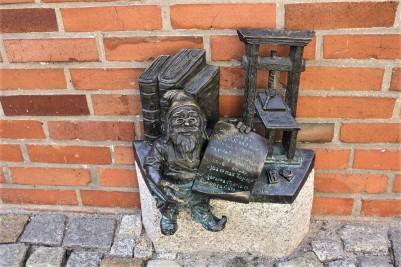 Bronze dwarf, Wroclaw, Poland
