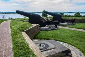Cannons, Fort McHenry, Baltimore, Maryland