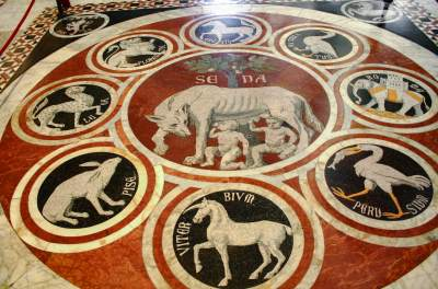 Mosaic floor, Siena Cathedral, Italy