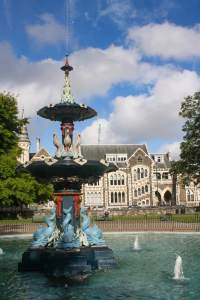 Peacock Fountain, Christchurch Botanic Gardens