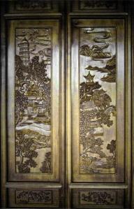 Carved panels, Lan Su Chinese Garden, Portland, Oregon