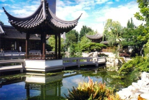 Pavilion, Lan Su Chinese Garden, Portland, Oregon